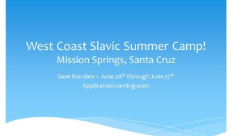 West Coast Slavic Camp